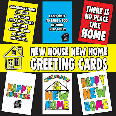 New Home Card New House Card Congratulations Funny Humorous * Buy 2 Get 1 Free* • 1.50£