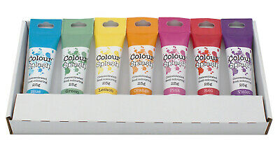 Colour Splash Rainbow Colours With Pink Food Colouring Gel Set - 7 Colours • 11.84£