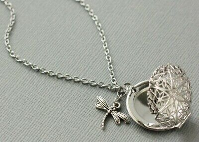 AU3.19 • Buy Dragonfly Diffuser Necklace Essential Oil Diffuser Necklace Locket Necklace