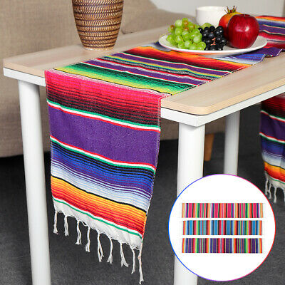 Shawl Mexican Table Runner Cover Blanket Rug Serape Cloth Costume Party  • 8.34£