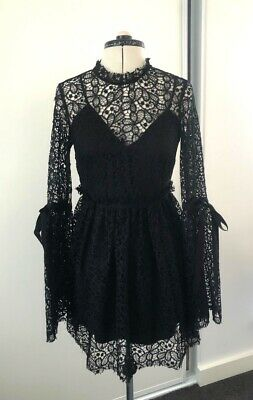 AU95 • Buy Alice McCall Black Lace Dress Size 6 Brand New