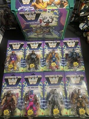$250 • Buy Masters Of The WWE Universe Lot Of 8 Figures With Ring 2 All MOC $250.00
