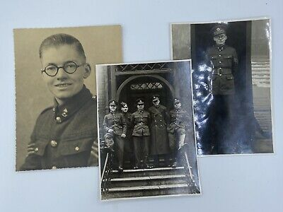 WW2 British Royal Engineers Officer Trio Of Photographs • 15£