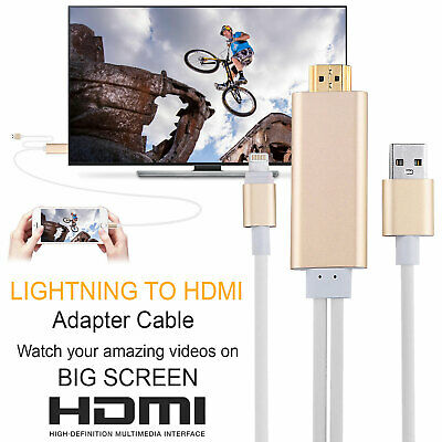 Lightning To HDMI Digital TV AV Adapter Cable For Apple IPad IPhone 5 6 7 8 X XS • 7.29£