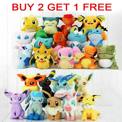 Rare Pokemon Collectible Plush Doll Character Soft Toy Stuffed Teddy Xmas Gift • 5.69£