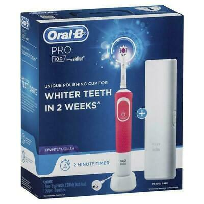 AU44.49 • Buy Brand New Oral B Pro 100 3D White Polish Power Toothbrush Pink Free Post