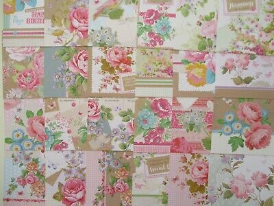 Hunkydory Paper Craft Card Toppers - Little Square Book Of Floribunda - Flowers • 1.50£