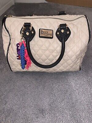 Pauls Boutique Bag- Cream Quilted- Used • 15£