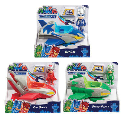 PJ Masks Save The Sky Vehicle With Figure - Choice Of Catboy, Owlette Or Gekko • 16.99£