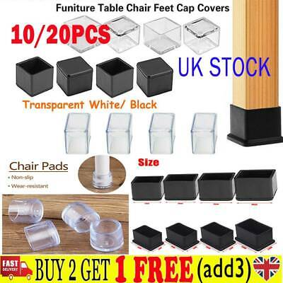 20PcSilicone Rubber Chair Leg Caps Feet Pads Furniture Covers Floor Protector IB • 3.75£