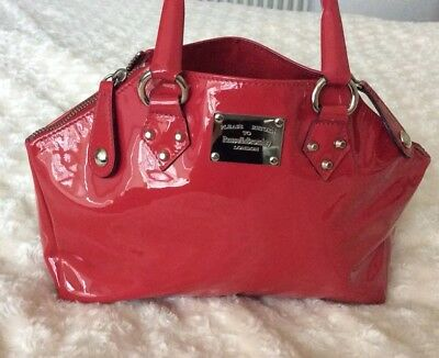 Beautiful Russell & Bromley Fuchsia Pink Patent Bag With Front R&B Logo Plaque • 59.99£