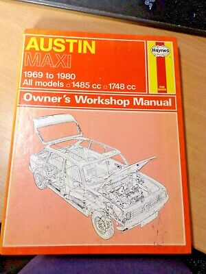 Haynes 052 Service And Repair Manual - Austin Maxi 1969 To 1980 • 7£