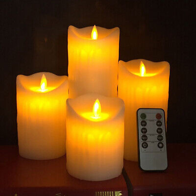 Remote Control Flameless LED Pillar Candles Flickering Flame Wax Candles Battery • 7.89£