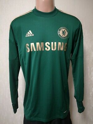 Size M Chelsea 2012-2013 GOALKEEPER FOOTBALL SHIRT JERSEY • 70£