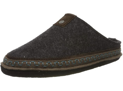 HAFLINGER Altai Graphit Gray Wool Slipper Arch Support US 7 EU 38  • 53.80£