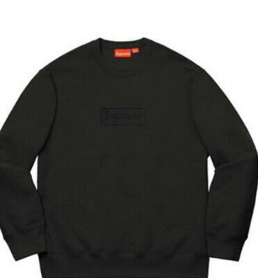 $ CDN233.33 • Buy Supreme Cutout Logo Crewneck Sweatshirt Box Logo Black Medium Sold Out +sticker