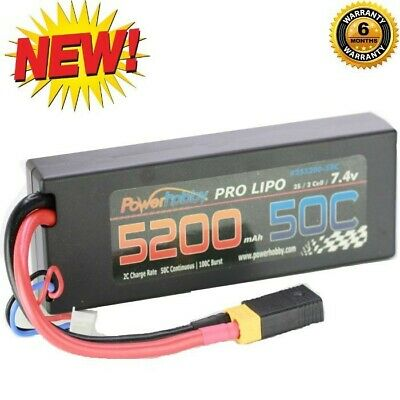 $ CDN49.99 • Buy Powerhobby 2s 7.4v 5200mah 50c Lipo Battery W XT60 Plug + Traxxas Adapter
