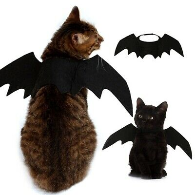 Bat Wings For Small Cat Kitten Puppy Dog Pet Halloween Costume Cosplay Dress-Up • 5.99£