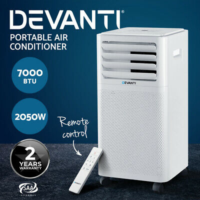AU339.95 • Buy Devanti Portable Air Conditioner Cooling Mobile Fan Cooler Dehumidifier 2kw