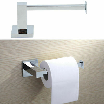 AU17.98 • Buy Wall Mounted Toilet Roll Holder Chrome Square Paper Tissue Bathroom Storage