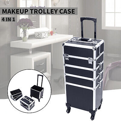 $79.99 • Buy 4In1 Rolling Makeup Train Case Professional Cosmetic Salon Trolley Organizer