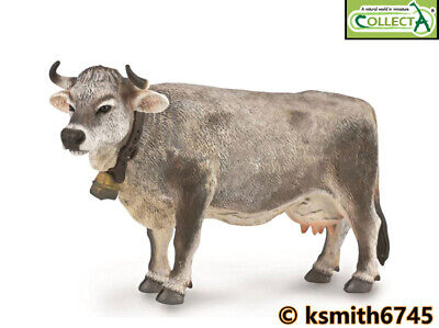 £6.65 • Buy CollectA TYROLEAN GREY COW Solid Plastic Toy Farm Pet Animal * NEW 💥