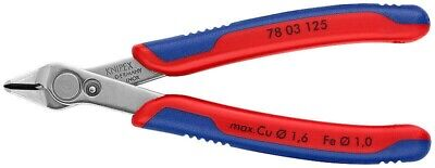 Knipex 78 03 125 SBE, Electronics Super Knips Flush Wire Cutter Inox - Germany • 24.99£