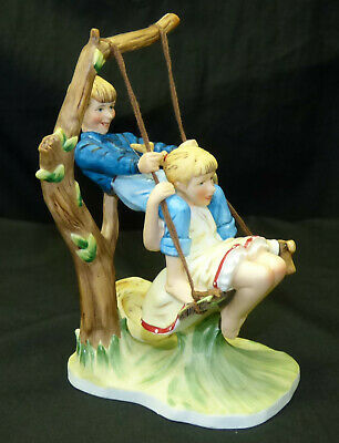 $ CDN25.95 • Buy First Gorham Collectors Society Norman Rockwell Flying High Figurine Kids Swing