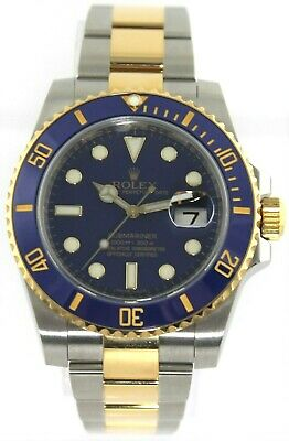 $ CDN25327.92 • Buy Rolex Submariner 116613 18k Gold Ceramic Mens 40mm Auto Blue Watch Box Papers