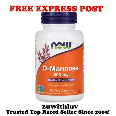 AU43.90 • Buy NOW FOODS D-MANNOSE 500mg, 120 VEG CAPS URINARY TRACT HEALTH *FREE EXPRESS POST*