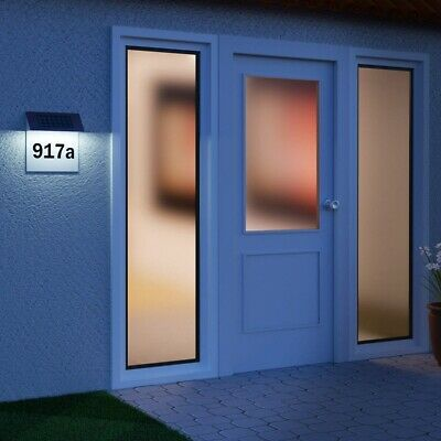 Solar Light House Number Address Sign LED Illuminate Plaque For Home Yard Street • 8.99£