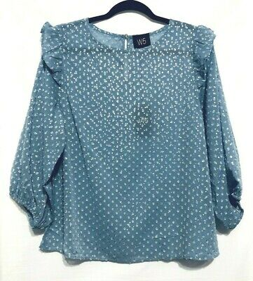 $ CDN32.92 • Buy Anthropologie W5 Concepts Floral Balloon Sleeve Blouse Top Size Large Womens