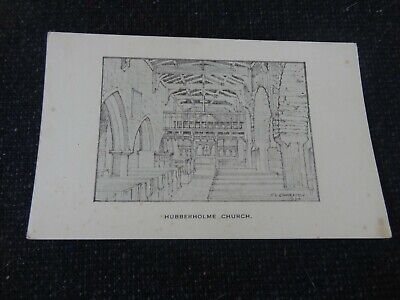 Hubberholme Church Artist Signed Charlton Postcard SEE BACK Yorkshire - 29774 • 4£