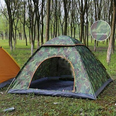 AU32.99 • Buy Camouflage UV Protection Pop Up Dome Tent 2 Person Waterproof Camping Tent Sun