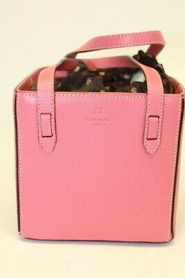 $ CDN20.67 • Buy Kate Spade New York Italy Made NEW Petite Pink Leather Box Tote Bag