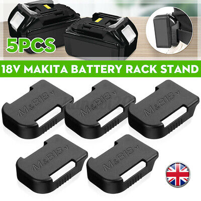 3x Bosch 18v Battery Mount Rack Holder 4 fitting on the walls Strong Made in UK