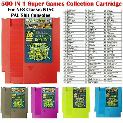 500 IN 1 Super Games Card Collection Cartridge For NES Classic NTSC PAL Consoles • 10.80£