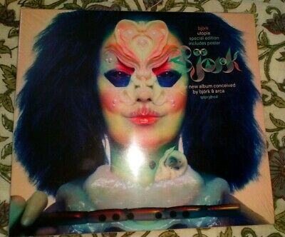 BJORK UTOPIA CD (SPECIAL EDITION INCLUDES POSTER 2017) New, Sealed  • 5.99£