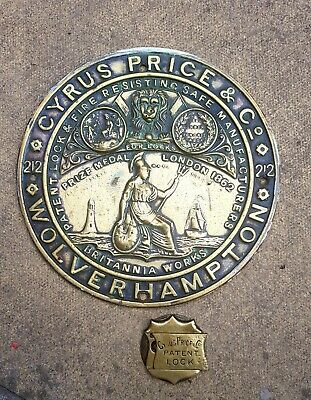 Cyrus Price Brass Safe Plaque & Lock • 29.99£