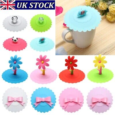 £4.40 • Buy Silicone Dustproof Reusable Coffee Suction Cup Lid Cap Seal Cover Party Supplies