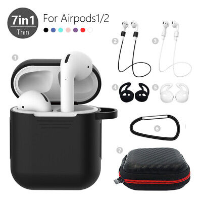 $ CDN6.91 • Buy 7in1 Storage Case Cover Kits For Apple AirPods 2 1 Airpod Strap Hook Accessories