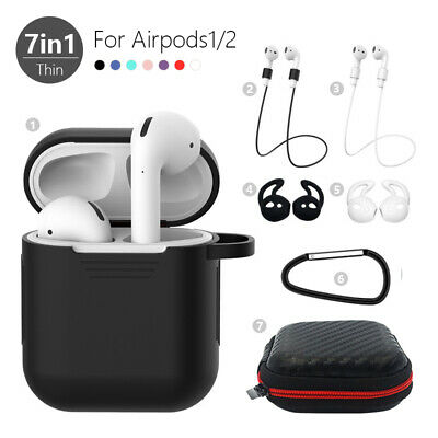 $ CDN7.03 • Buy 7in1 Storage Case Cover Kits For Apple AirPods 2 1 Airpod Strap Hook Accessories