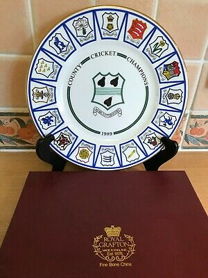 Royal Grafton Plate-Worcestershire County Cricket Champions 1989 Ltd Ed-Boxed • 20£