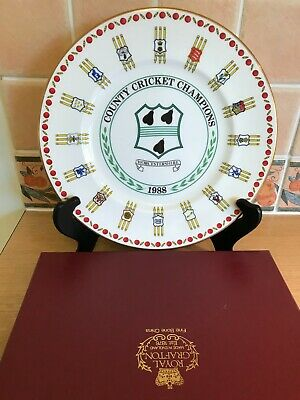 Royal Grafton Plate-Worcestershire County Cricket Champions 1988 Ltd Ed-Boxed • 20£
