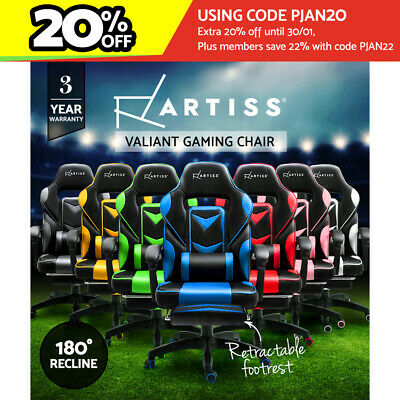 AU145 • Buy Artiss Gaming Office Chair Racing Executive Footrest Computer Seat PU Leather