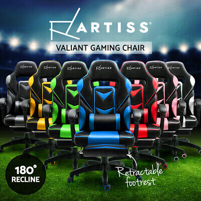 AU157.95 • Buy Artiss Gaming Office Chair Racing Executive Footrest Computer Seat PU Leather