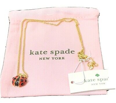 $ CDN63 • Buy Kate Spade Gold Plated Ladybug Pendant Necklace New