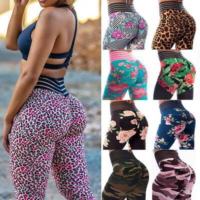 AU21.69 • Buy Womens High Waist Yoga Leggings Push Up Pants Scrunch Sports Fitness Gym Booty A