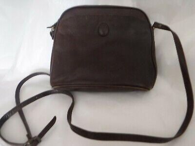 *JANE SHILTON* Vintage Brown Genuine Leather Hand Bag VGC* • 0.99£