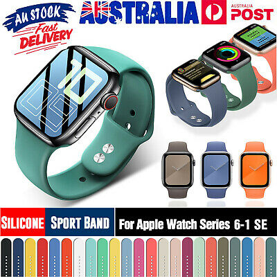AU9.49 • Buy Replacement Silicone Sport Wrist Band For Apple Watch SE 1-6 IWatch 42mm 38mm
